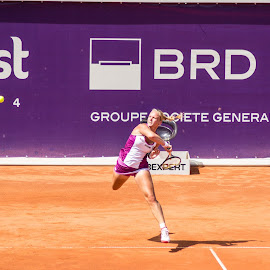 Force by Cosmin Lita - Sports & Fitness Tennis ( wta, woman, forehand, tennis, one foot )