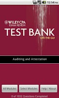 Screenshot of AUD Test Bank - Wiley CPA Exam
