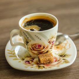 Coffee time by Daniel Chobanov - Food & Drink Alcohol & Drinks ( cup, rose, coffee, spoon, sugar )