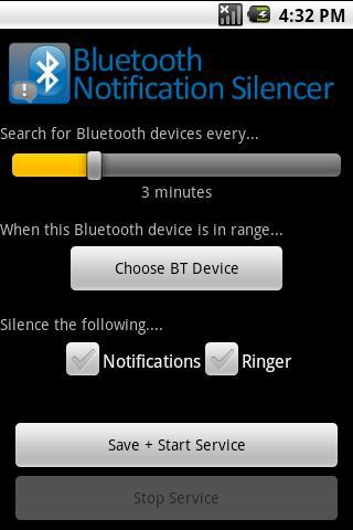 BT Notification Silencer