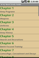 Screenshot of Army Study Board Lite