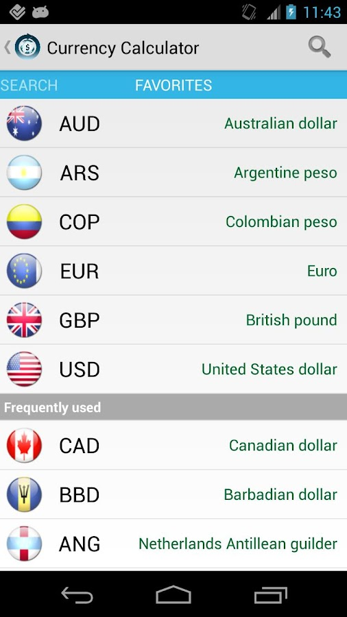 Currency Calculator Pro Screenshot 3