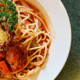 Spaghetti  by Serene Xin - Food & Drink Plated Food ( tomato, spaghetti, noodle, western, food photography, delicious, pasta )