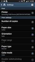 Screenshot of Samsung Print Service Plugin
