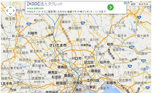 Google Maps API で AdSense