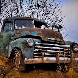 Stuck in Time by Doug Wallick - Transportation Automobiles ( old, minnesota, truck, stuck, chevy,  )