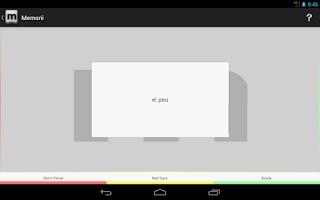 Screenshot of Memorii: Flashcards