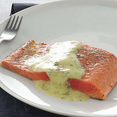 Roast Salmon with Mustard Vinaigrette