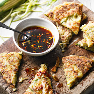 Korean Courgette Pancakes With Dipping Sauce