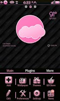 Screenshot of Pinkie GoLauncher Theme