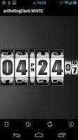 Screenshot of 3D Rolling Clock WHITE
