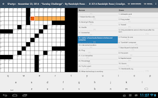 Screenshot of Shortyz Crosswords