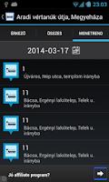 Screenshot of Kisalföld menetrend online