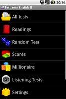 Screenshot of Test Your English II.