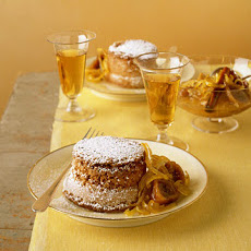 Saffron Cakes with Lemon-Fig Compote