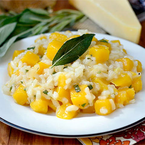 Butternut Squash and Sage Risotto with Goat Cheese Recipe   Yummly