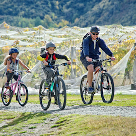 Fun by Winkie Chau - Transportation Bicycles ( ride, dad, gibsson valley, kids, new zealand,  )
