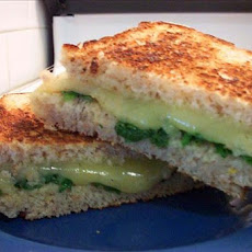 Spinach and Havarti Sandwiches on Multigrain Bread