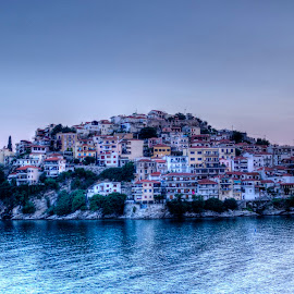 Kavala by Stratos Lales - City,  Street & Park  Vistas ( kavala, sunset, traditional, colours, peninsula )