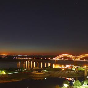 Hernando de Soto Bridge  by Michael Holland - City,  Street & Park  Skylines (  )