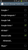 Screenshot of Missed Message Flasher Free