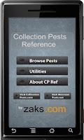 Screenshot of Collection Pests Reference
