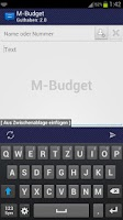 Screenshot of WebSMS: M-Budget Connector