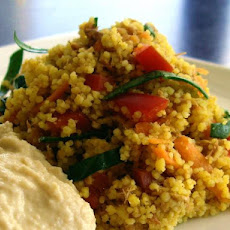 Curried Tuna, Carrot & Hommus Couscous