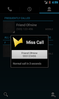 Screenshot of Miss Call