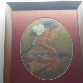 Indian Woman by Vinay Tr - Painting All Painting