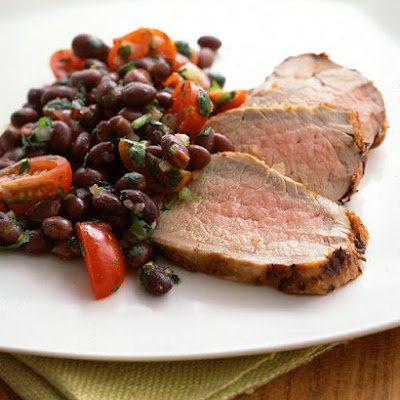 Chipotle-Marinated Pork Tenderloin with Black Bean Salsa