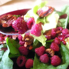 Mixed Green Salad With Raspberry Vinaigrette