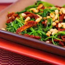 Sauteed Broccoli Rabe Recipe with Sun-Dried Tomatoes and Pine Nuts