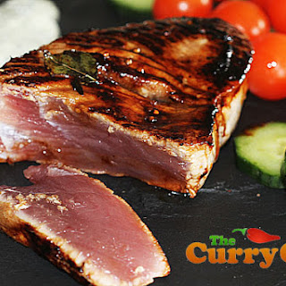 Goan Seared Tuna Steaks with a Tamarind Crust & Yogurt Dressing