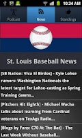 Screenshot of St. Louis Baseball
