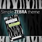 GO SMS Pro Simple Zebra Theme icon
