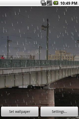 Rain Live Wallpaper Demo