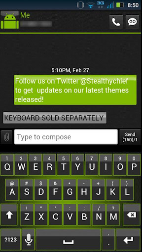玩個人化App|GO SMS Clean Green Theme免費|APP試玩
