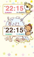 Screenshot of Zodiac sign Clock Widget