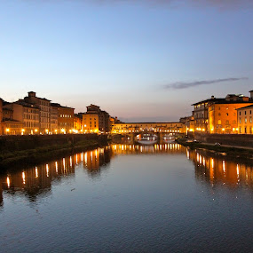 Twilight in Florence by Jason Kiefer - City,  Street & Park  Vistas ( florence, italy,  )