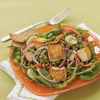 Pea, Carrot, and Tofu Salad