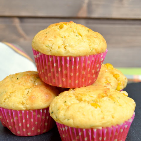 Zucchini Corn Muffins With Cheese