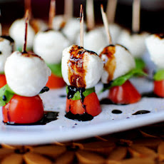Caprese Skewers with Balsamic Drizzle