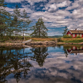 Silence by Daniel Herr - Landscapes Waterscapes ( clouds, reflections, oyangen, lake, norway )