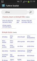 Screenshot of Turkish Dictionary
