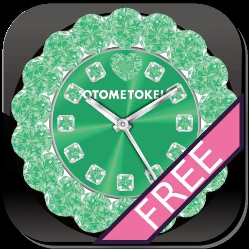 [FREE]オトメトケイ ライブ壁紙 グリーン 個人化 App LOGO-硬是要APP