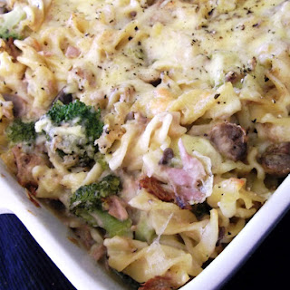 Tuna and Mushroom Pasta Bake