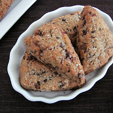 Chocolate and Toffee Chip Scones with Pecans