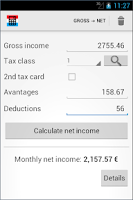 Screenshot of Luxembourg salary calculator