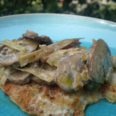 Leek and Mushroom Sauce (Low Fat)